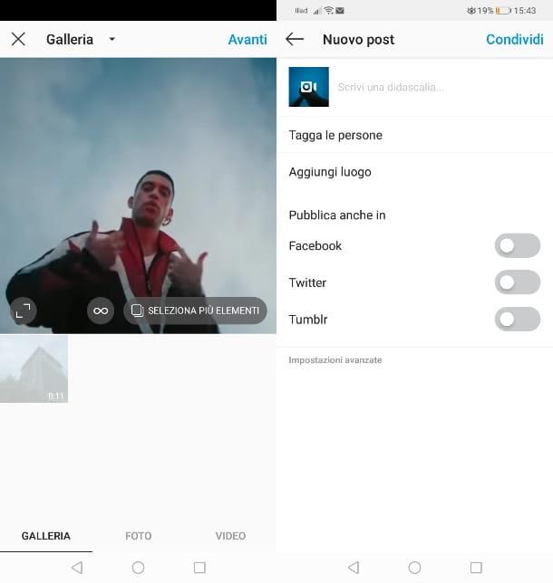 Comparte videos de Youtube en la publicación de Instagram