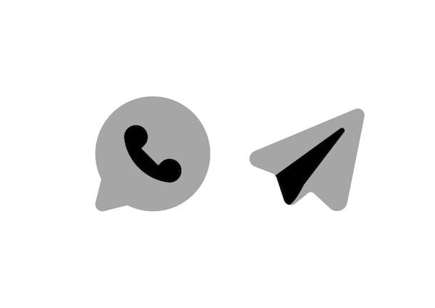 Iconos de WhatsApp y Telegram